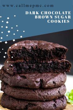 Xmas Cookies, Yummy Cookies, Sugar Cookies, Easy Chocolate Cookies, Chocolate Sugar Cookie Recipe, Baking Recipes, Cookie Recipes, Dessert Recipes, Just Desserts