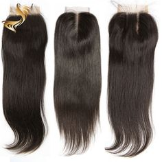 Brazilian Hair Lace Frontal/Closure GRADED 8A Virgin Human Hair Straight/BWave