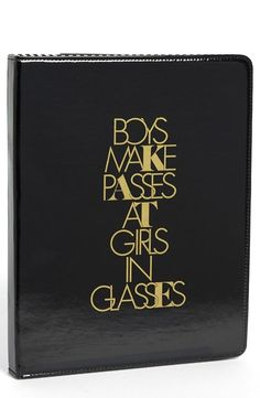 Boys make passes at girls in glasses.