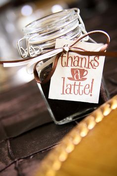 Coffee party favor