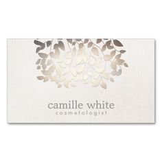 63 best business cards cosmetologist images on pinterest custom cosmetology faux gold foil leaves linen look business cards wajeb Images