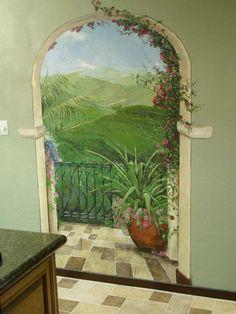 The balcony mural idea as seen on www.findamuralist.com