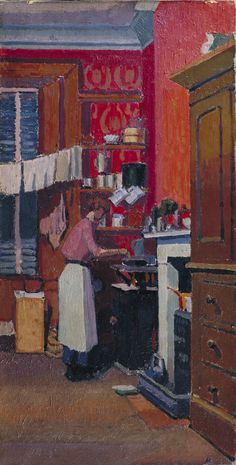 The Gas Cooker - Spencer Gore, oil on canvas, 1913