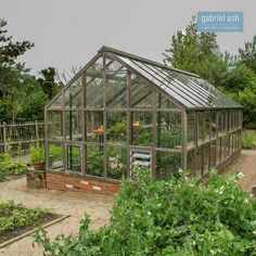 A Classic 12 Planthouse that is the central feature in the vegetable garden at RHS Rosemoor in Devon