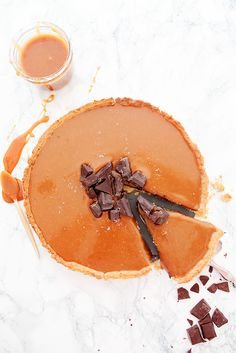 chocolate caramel tart.