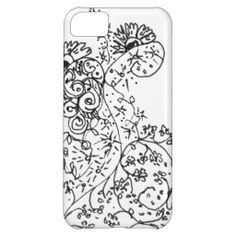 Delicate Line Drawings of Abstract Flower Dance Case For iPhone 5C