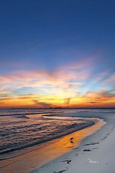 Sunset With Piper #PensacolaBeach #Florida