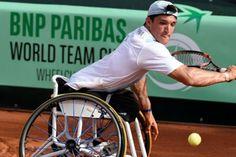 El argentino Gustavo Fernández llegó a la final de tenis adaptado