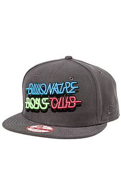 The Neon Snapback in Graphite by Billionaire Boys Club use rep code: OLIVE for 20% off!