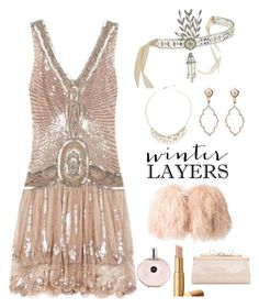 """Roaring 20s theme party : Winter Layers: Slip Dress"" by im-karla-with-a-k ❤ liked on Polyvore featuring Plein Sud, Daizy Shely, Lalique, Sara Weinstock, Judith Leiber, women's clothing, women's fashion, women, female and woman"