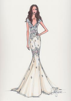 Modern Bridal Sketches by Illustrative Moments