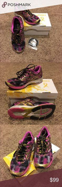 ASIC Gel Noosa Limited breast cancer awareness Asics. These are in brand new condition. I bought them too small and have been worn a couple times. Don't miss out on these pretty Noosas! Under Armour Shoes Athletic Shoes