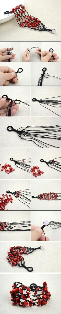 DIY Coral Beads Bracelet, great idea