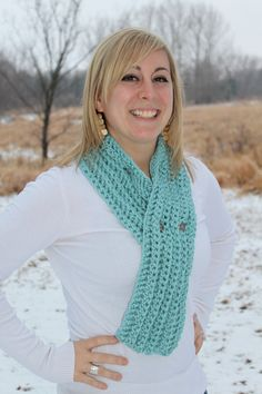 End of Winter 15 off Sale Seafoam Scarf with silver by makinitmama, $12.75