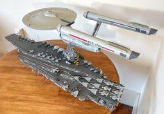 Two 1/350 scale USS Enterprises - Imgur