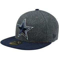 New Era Dallas Cowboys Melton Basic 59FIFTY Fitted Hat - Charcoal/Navy Blue  #fanatics
