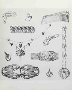 Jewelry Clasps, Jewelry Art, Jewelry Design, Jewelry Ideas, Jewellery, Doodle Art Drawing, Art Drawings, Art Nouveau Design, Art Deco