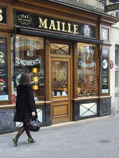 Maille in Paris,.numero 6 Place de la Madeleine .... famous mustard maker shop.