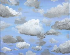 Partly Cloudy Sky - Free Arts Academy- Art From Our Channel Art Paintings For Sale, Flower Landscape, Sky Painting, Art Academy, Sky Art, Pet Portraits, Script, Journaling, Abstract Art