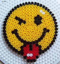 Perles Hama : Smileys sur plaque ronde - Les loisirs de Pat