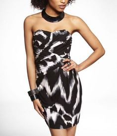 STRAPLESS RUCHED TUBE DRESS at Express. I love this! Express Women 3b40614b00e7