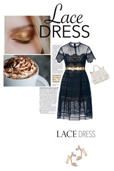 """Lovely Lace Dress"" by cocochanel10 ❤ liked on Polyvore featuring Made of Me, self-portrait, Giuseppe Zanotti, Dolce&Gabbana, Marni, lacedress and polyvorecontest"