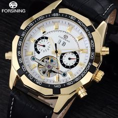 Check it on our site FORSINING men tourbillon automatic mechanical watches men's fashion bussiness dress watch black leather band calendar clock just only $29.30 - 31.10 with free shipping worldwide  #menwatches Plese click on picture to see our special price for you