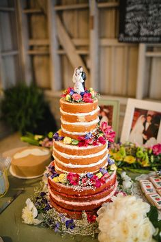 Naked Cake via Ruffled (Kelly Ginn Photography) Cake by Frost Bakeshop Wedding Cake Prices, Wedding Cake Designs, Wedding Cakes, Wedding Menu, Wedding Wishes, Wedding Ideas, Gorgeous Cakes, Pretty Cakes, Amazing Cakes
