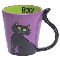 Boston Warehouse > boston warehouse > ceramics and entertaining > WITCH'S BREW MUG BLACK CAT BOO