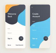 by Giga Tamarashvili Login Design, Web Design, Website Design Layout, Wordpress Website Design, Android App Design, App Design Inspiration, Mobile Ui Design, Application Design, Ui Web