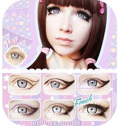 Winged doll eye makeup #tutorial #evatornadoblog @evatornado