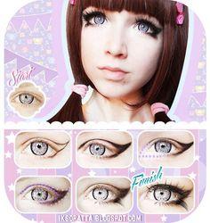 Winged doll eye makeup tutorial evatornadoblog
