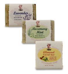 IWen Almond Facial Bar Rosemary Mint  Lavender handmade soap set 3 soaps ** ** AMAZON BEST BUY ** #OrganicSoap