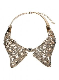 Topshop metal lace collar