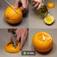Make this olive oil and orange candle, it smells amazing!