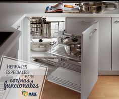 Kitchen corner cabinet - You have a small kitchen? One creative solution of storage for small kitchen is kitchen corner cabinet. Kitchen Cabinets Home Depot, Corner Sink Kitchen, Kitchen Cabinet Drawers, Small Kitchen Storage, Kitchen Storage Solutions, Modern Kitchen Cabinets, Kitchen Units, Kitchen Furniture, Kitchen Organization