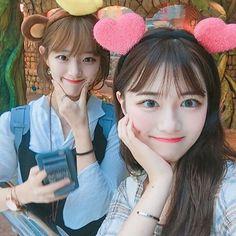 Korean Face, Korean Girl, Asian Girl, Korean Style, Korean Best Friends, Korean Couple, Lesbian Love, Ulzzang Girl, Korean Fashion