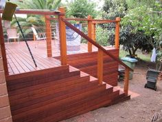 Elevated Decking Design Ideas - Photos of Elevated Decking. Browse Photos from Australian Designers & Trade Professionals, Create an Inspiration Board to save your favourite images. Pergola Patio, Backyard, Pergolas For Sale, Deck Stairs, Timber Deck, Front Deck, Front Entrances, Deck Design, Garden Bridge