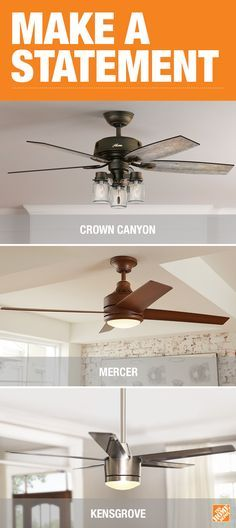 Make A Décor Statement With Your Ceiling Fan. The Crown Canyon Fan Features  Mason Jar