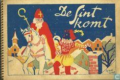 Illustratie Greet Groot: De Sint komt, 1946