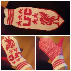 Babsy design YNKA ( you`ll never knit alone ) Snow Monster, Knitted Gloves, Crochet Hooks, Mittens, Liverpool, Free Pattern, Knitting Patterns, Diy And Crafts, Projects To Try