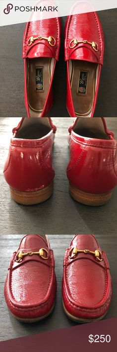 GUCCI Red Patent Leather 1953 Loafer GUCCI Red Desert Patent Leather Horsebit 1953 Loafer; Brass Hardware; Leather Sole; Made in Italy; 0417847472677; 9 UK/ 10 US EXCELLENT Gucci Shoes Loafers & Slip-Ons