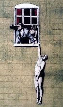 The Naked Man by Banksy - Top 10 Street Art Across The UK And Ireland