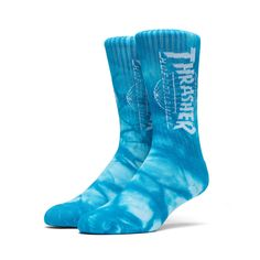 THRASHER TDS CRYSTAL WASH CREW SOCK  MINT - Shop Jeen - powered by Hingeto
