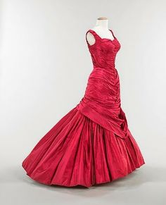 """A """"Tree"""" dress by Charles James, 1955."""