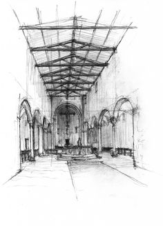 Daniel Mowery / Vicenza Drawing: Theater, Church & Basilica
