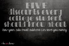 College Bound: 5 discounts every college student should know about | The Caro Diaries