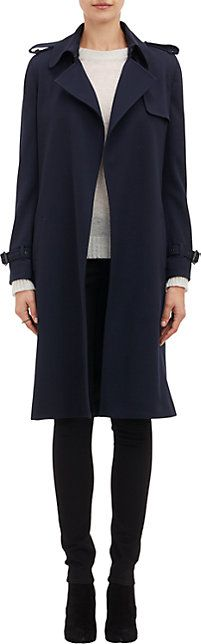 We Adore: The Wool-Crepe Trench Coat from Barneys New York at Barneys New York
