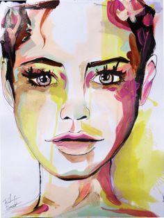 Original Portrait Watercolor by Rikki sneddon #art #portrait #watercolor