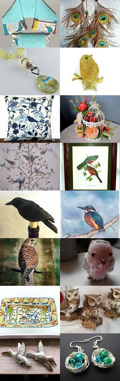 Tempting Bird Collection by Carol on Etsy--Pinned+with+TreasuryPin.com